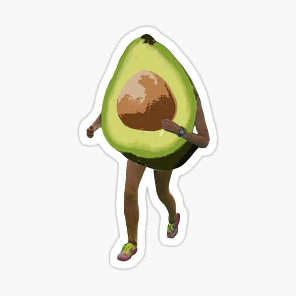 fat runner Sticker