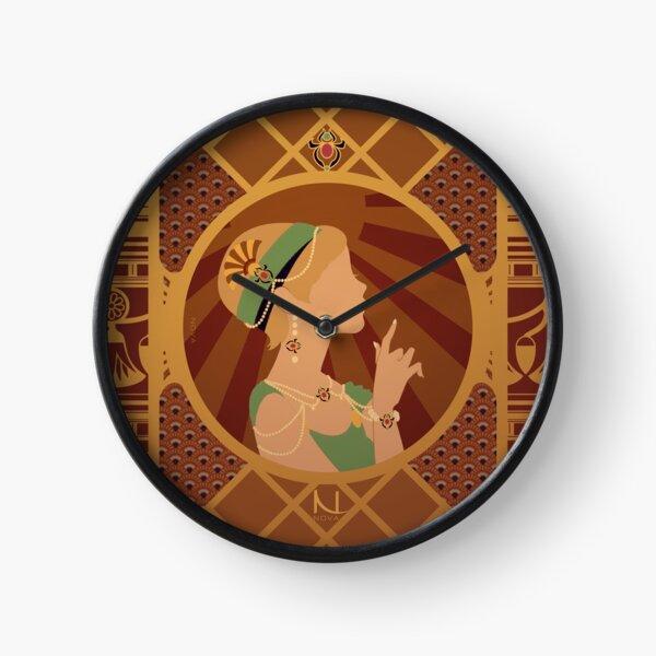 Scarabée du Nil en Egypte - Illustration Art Nouveau Horloge