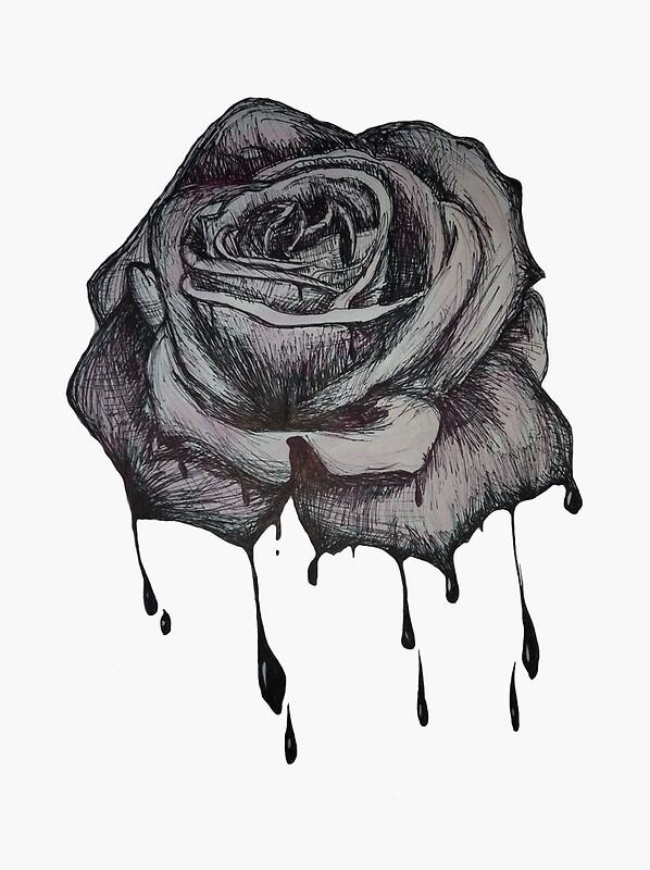"dripping rose"" art printspulseline   redbubble"