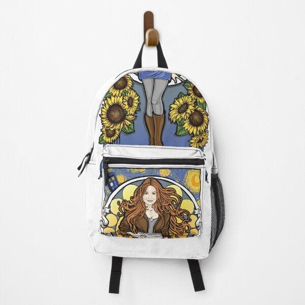 The Girl Who Waited (Amy under a Van Gogh sky) Backpack