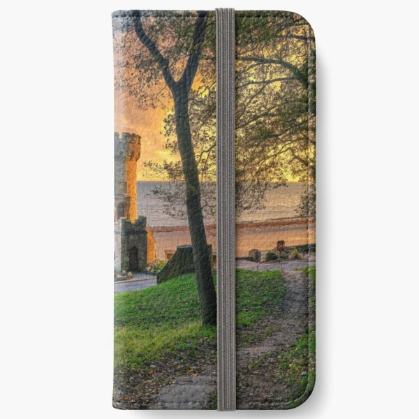 Dawn Sunrise At Appley Tower iPhone Wallet