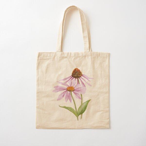 Echinacea Cotton Tote Bag