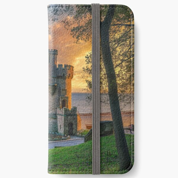 Sunrise At Appley Tower iPhone Wallet