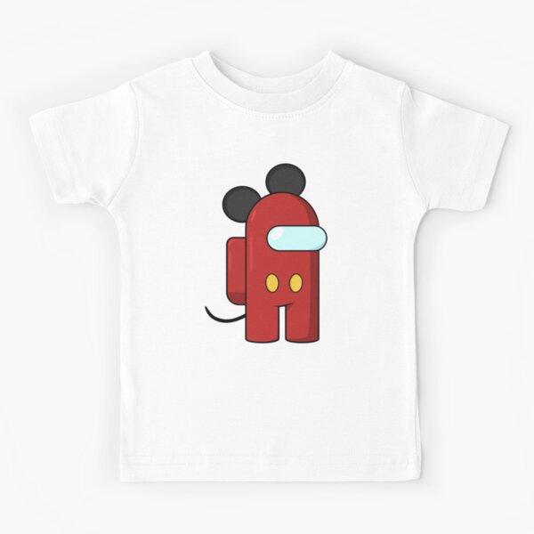 T-Shirt Boys Girls Tee Top Adults /& Kids Among Us Red Impostor Shush