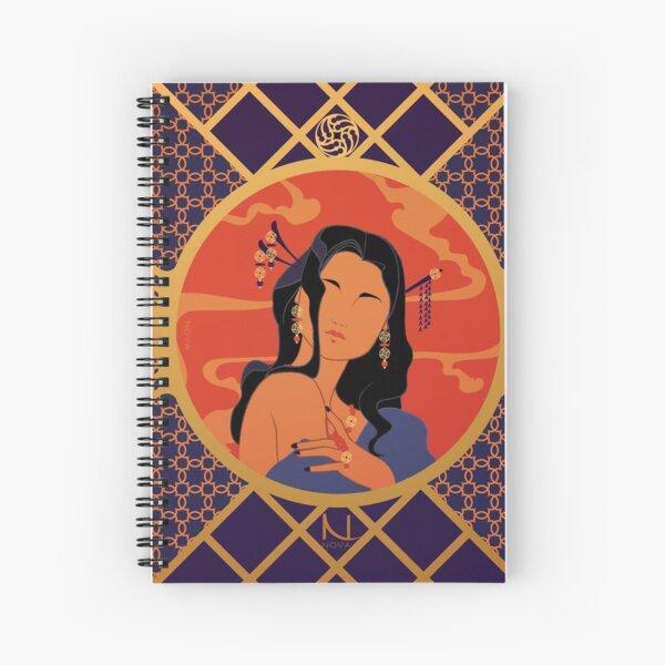 Rosace de l'Asie - Illustration Art Nouveau Cahier à spirale