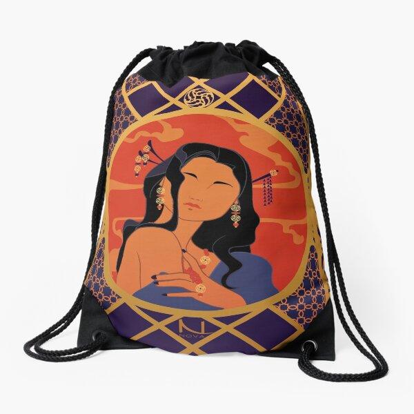 Rosace de l'Asie - Illustration Art Nouveau Sac à cordon