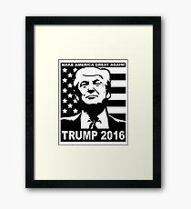 Trump 2016 Framed Print