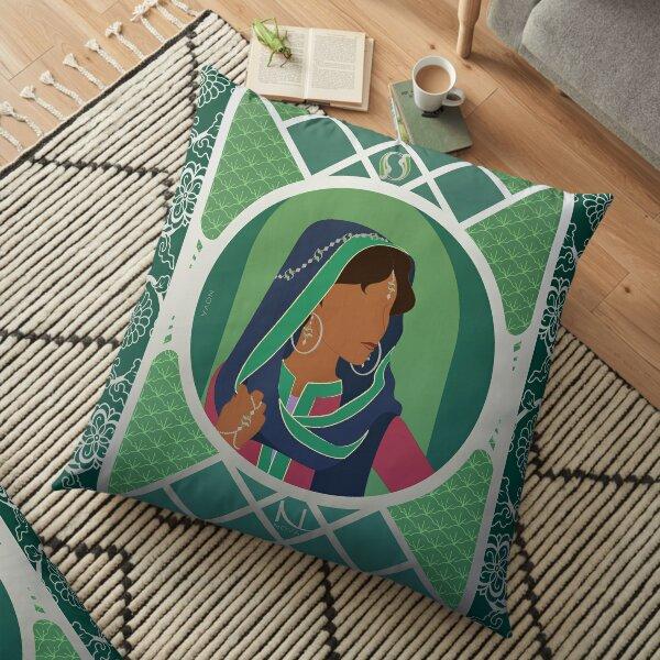 Vague d'Orient - Illustration Art Nouveau Coussin de sol