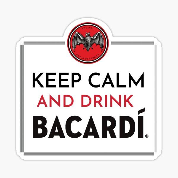 Mantenga la calma y beba Bacardi® Pegatina