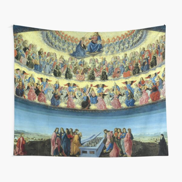 The Assumption of the Virgin (1475 - 1477) by Francesco Botticini Tapestry