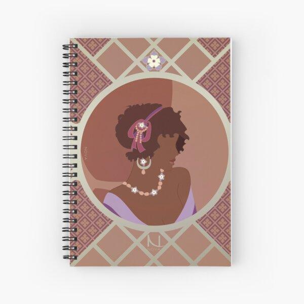 Rose d'Afrique - Illustration Art Nouveau Cahier à spirale