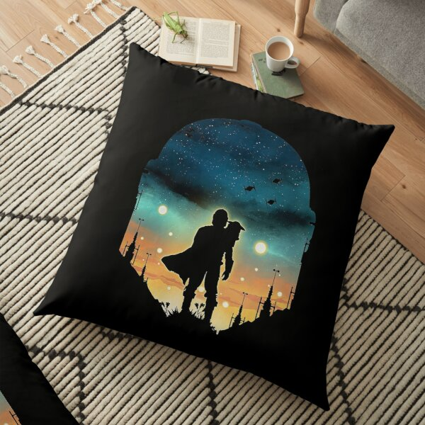 mando in galaxy Floor Pillow