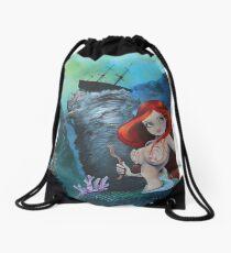 The Shipwreck Mermaid Drawstring Bag