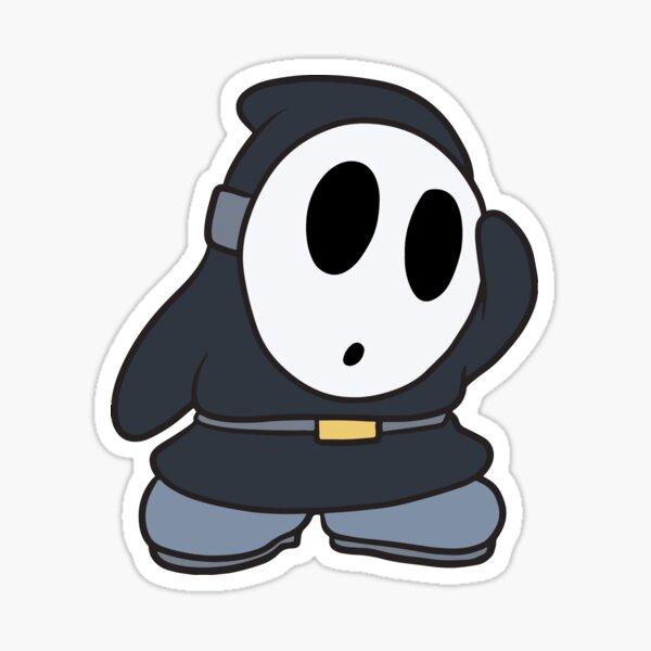 Cute Black Shy Guy  Sticker