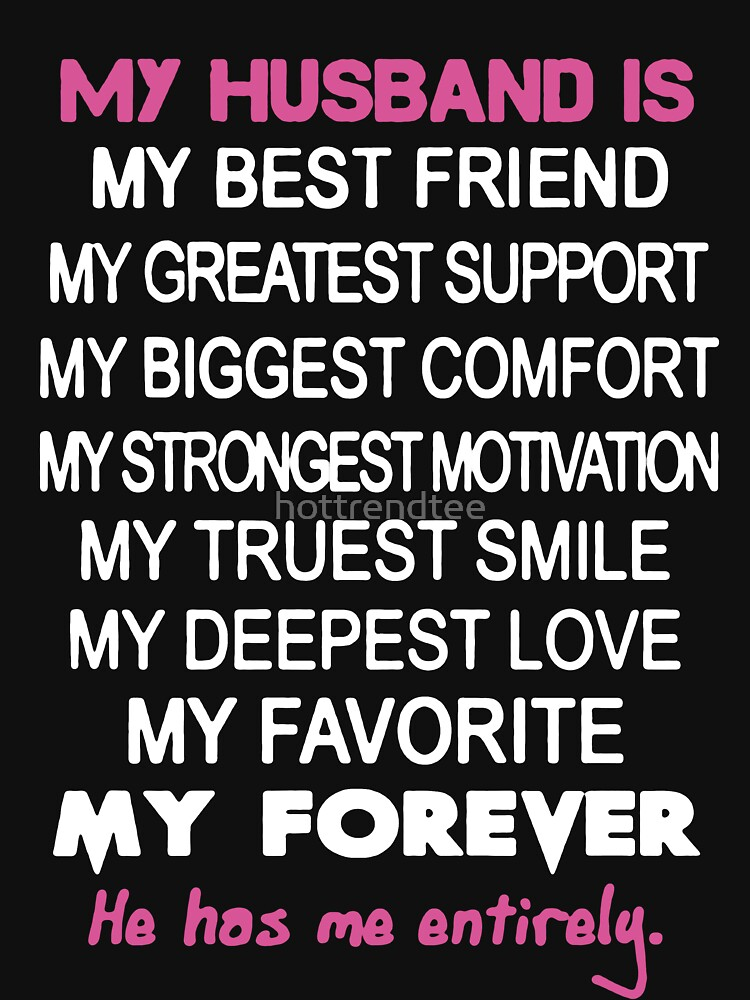 My Husband Is My Best Friend Womens Fitted V Neck T Shirt By