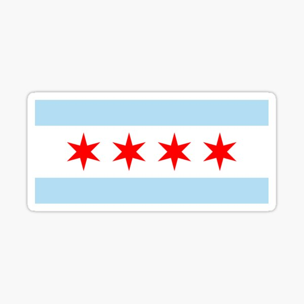 Chicago Flag Normal Sticker