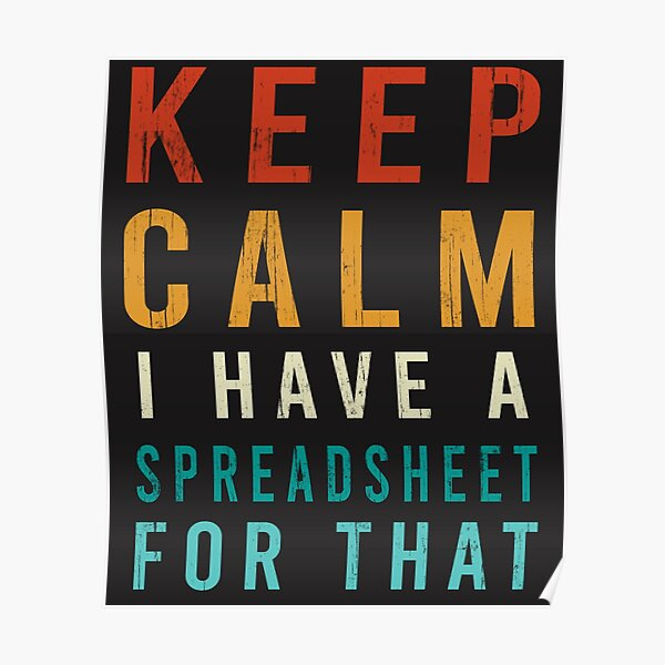 keep Calm I Have A Spreadsheet For That Funny Accountant Poster