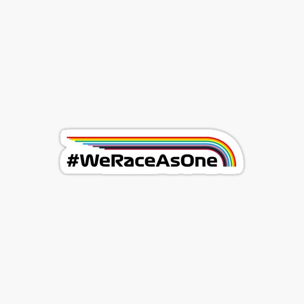 Race As One - Racing Rainbow Sticker