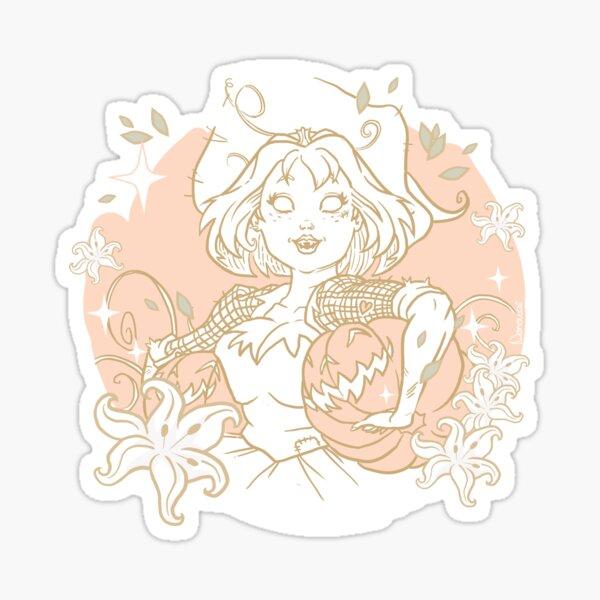 Sorcière verte - Citrouille Sticker