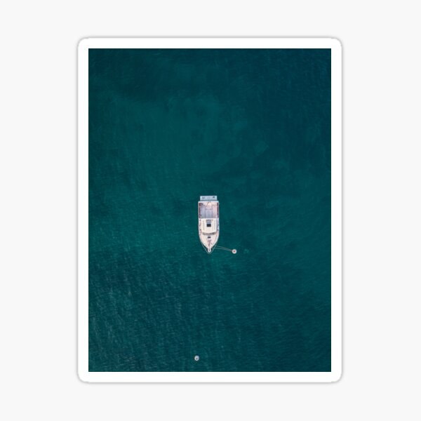 Lonely ship Sticker
