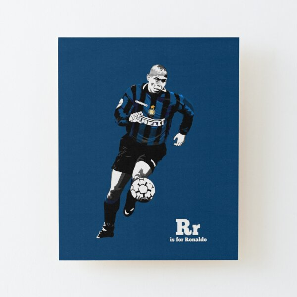 R is for (the real) Ronaldo Wood Mounted Print