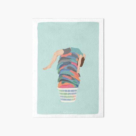 Laundry Day Art Board Print