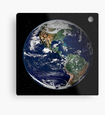 Full Earth showing North and South America. Metal Print