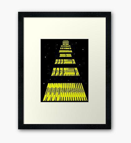 Phonetic Star Wars Framed Print