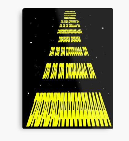 Phonetic Star Wars Metal Print