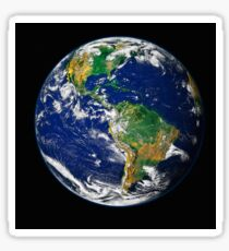 Full Earth showing the western hemisphere. Sticker