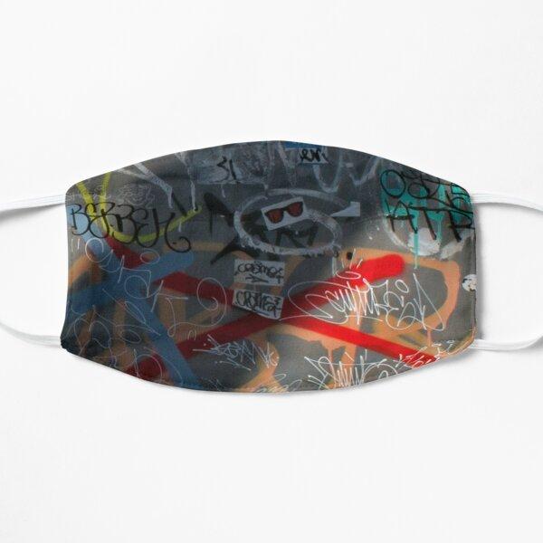 Graffiti art on a mask & buttons Mask