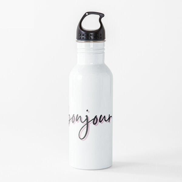 Bonjour Pink and Black Water Bottle