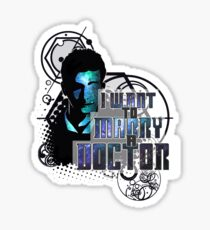 Marry a Doctor Tennant Sticker