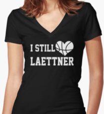 I Still Love Laettner Women's Fitted V-Neck T-Shirt