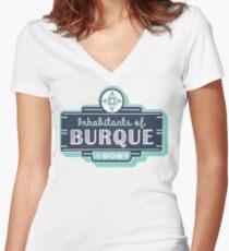 Inhabitants of Burque T-Shirt Women's Fitted V-Neck T-Shirt