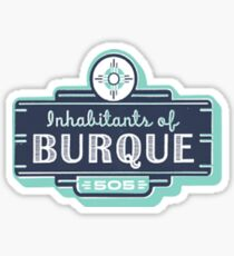 Inhabitants of Burque T-Shirt Sticker