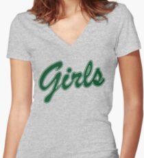 FRIENDS GIRLS SWEATSHIRT(green) Women's Fitted V-Neck T-Shirt