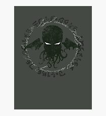 In his house at R'lyeh dead Cthulhu waits dreaming Photographic Print