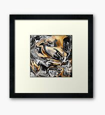 Gold Veins Framed Print