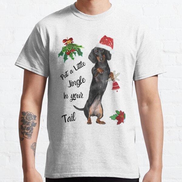 Christmas Jingle Tail Live Dachie-dtt Classic T-Shirt