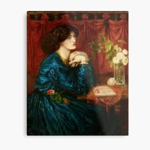 Jane Morris, The Blue Silk Dress Metal Print