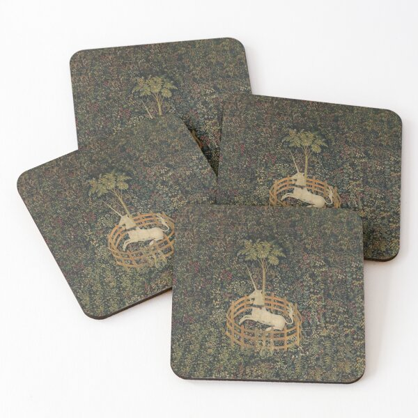The Unicorn Tapestry (The Unicorn is in Captivity and No Longer Dead) Coasters (Set of 4)