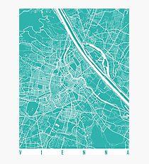 Vienna map turquoise Photographic Print