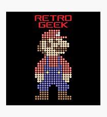 Retro Geek - Mario Photographic Print