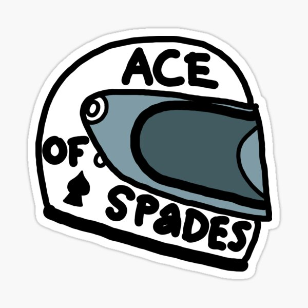 Ace of Spades casque Sticker