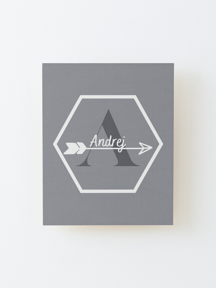 Alternate view of Andrej Mounted Print