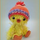 Handmade bears from Teddy Bear Orphans - Funky Chick by Penny Bonser