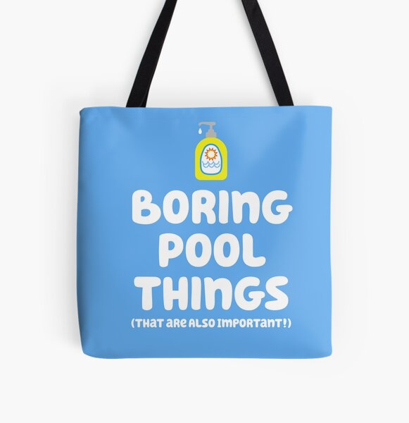 """""""Boring things are important!"""" - Chilli Heeler All Over Print Tote Bag"""