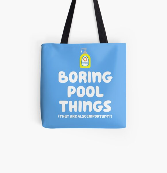 """Boring things are important!"" - Chilli Heeler All Over Print Tote Bag"