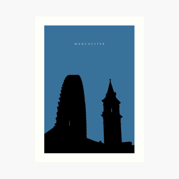 Manchester Silhouette #03 Art Print